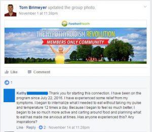 hypothyroidism revolution community testimonial 2