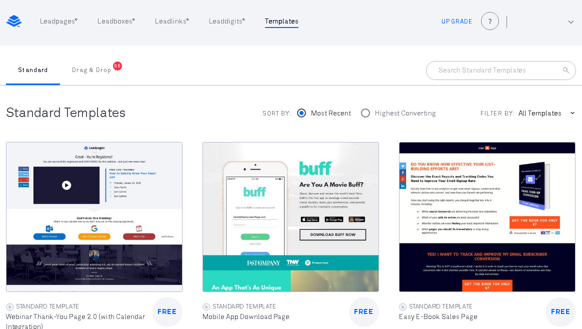 LeadPages Features