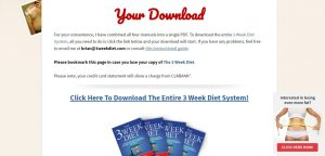 3 week diet, 21 day diet