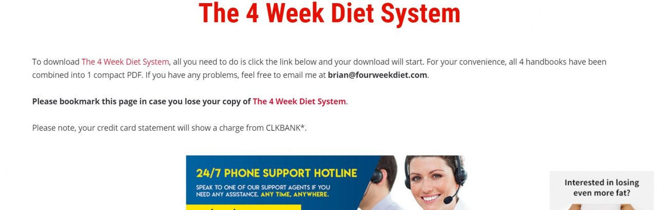 The 4 Week Diet System