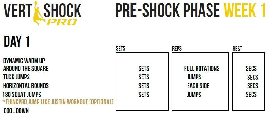vert shock exercises