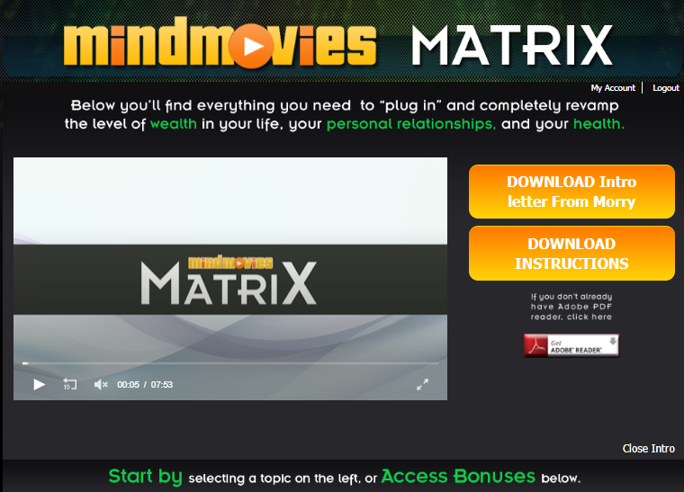 matrix mind movie dashboard