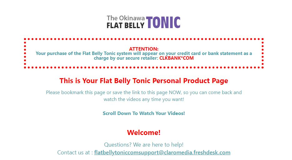 welcome page okinawa flat belly tonic