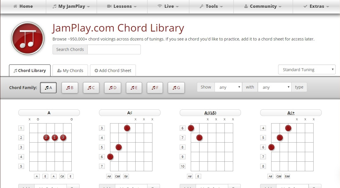 JamPlay review chord name feature