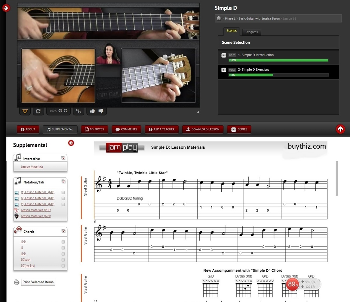 JamPlay review, Jessica baron lesson