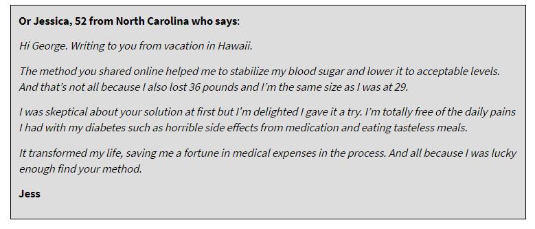 testimonial diabetes freedom