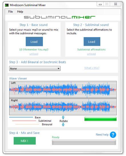 subliminal mixer mindzoom
