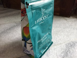 Lifeboost Coffee medium roast bag