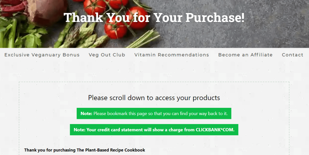 welcome page plant cookbook