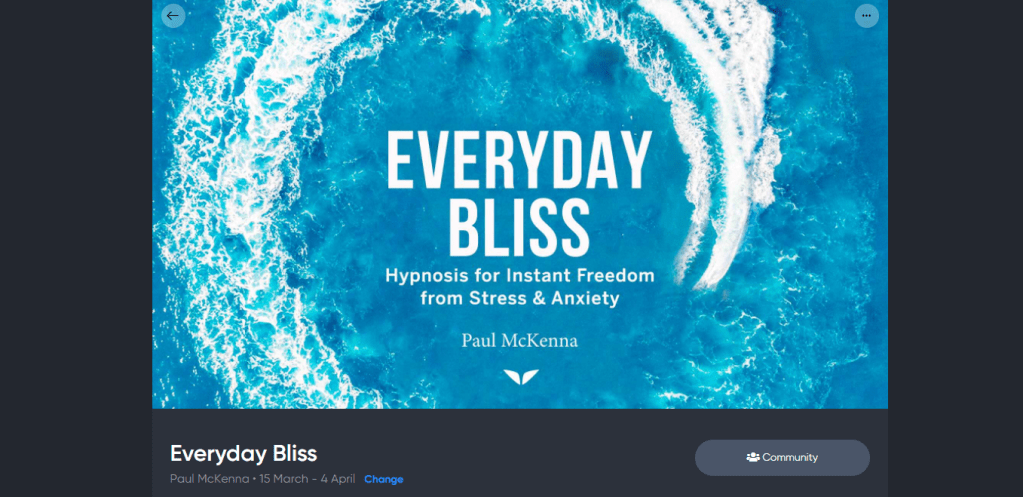 Everyday Bliss access page