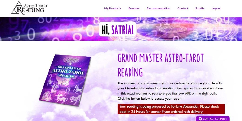 welcome page astro tarot reading