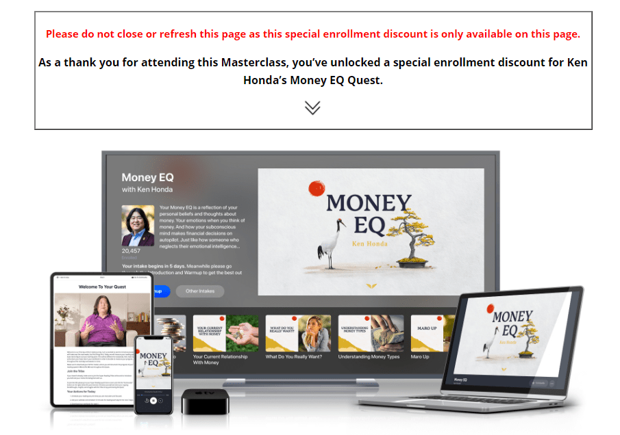 Money EQ discount