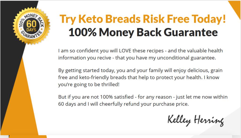keto bread book money guarantee