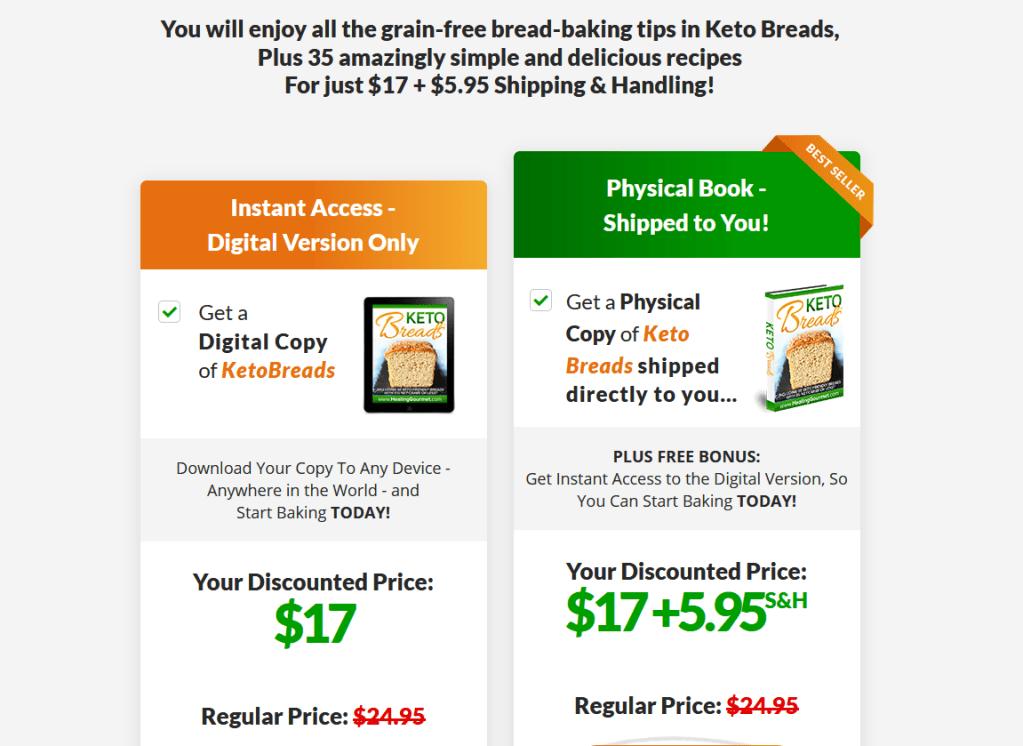 keto bread book price