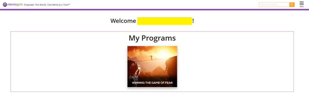 neurogym welcome page