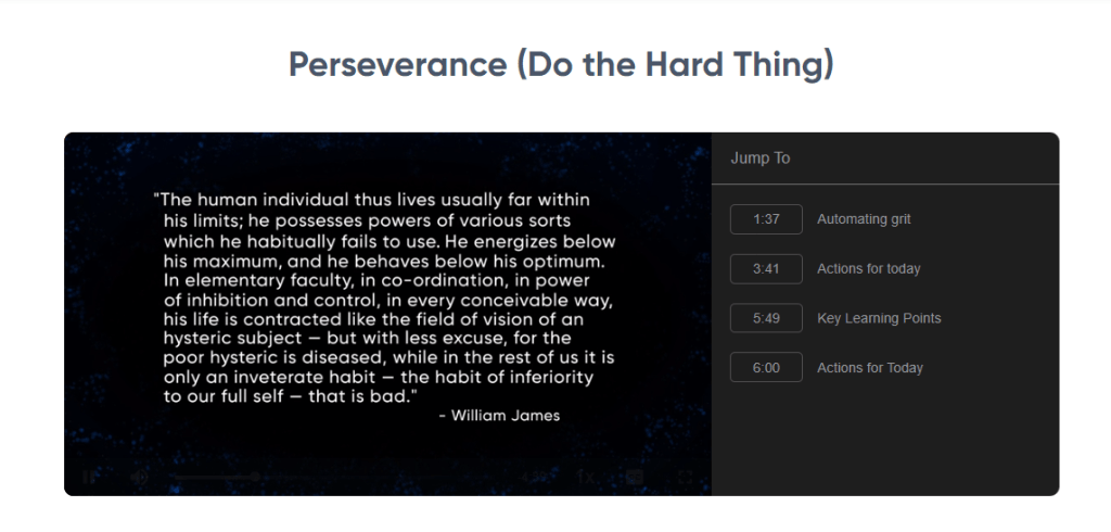 the habit of ferocity - training perseverance