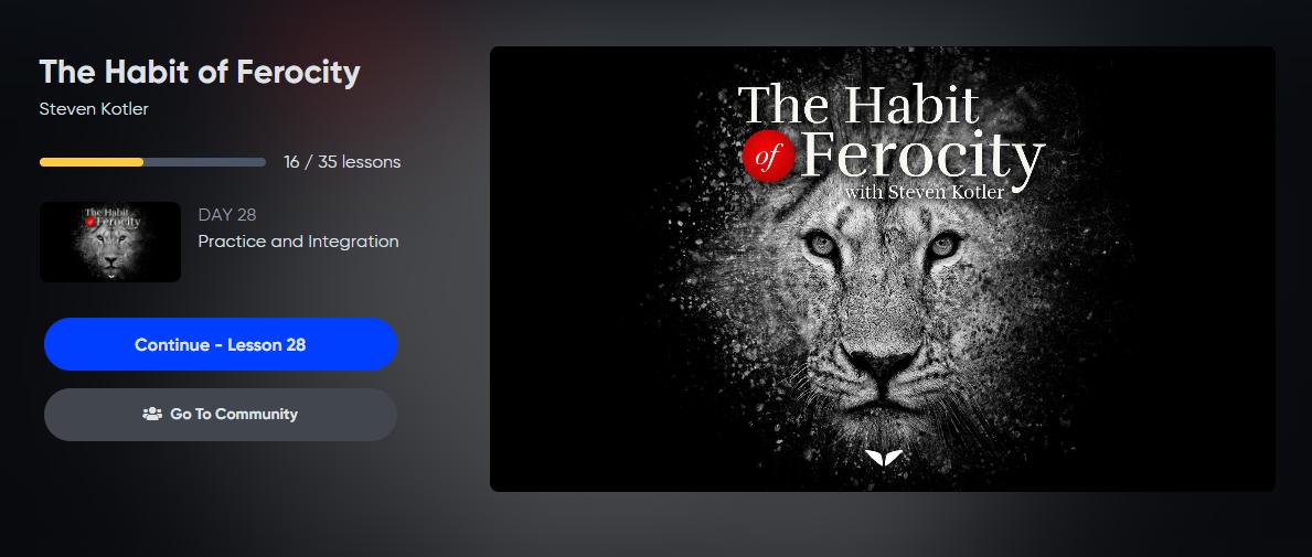the habit of ferocity course page